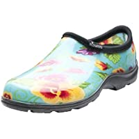 Sloggers Women's Waterproof Rain and Garden Shoe with Comfort Insole, Pansy Turquoise, Size 7, Style 5114TP07