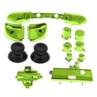 H HILABEE Xbox One S対応 LB RBバンパートリガーボタン 取り替え コントローラ用フルボタンセット - 緑