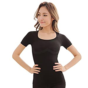筋肉革命 コンプレッションウェア 加圧シャツ 半袖 3枚セット 加圧インナー レディース お腹引締め Mサイズ ladyshirtM3