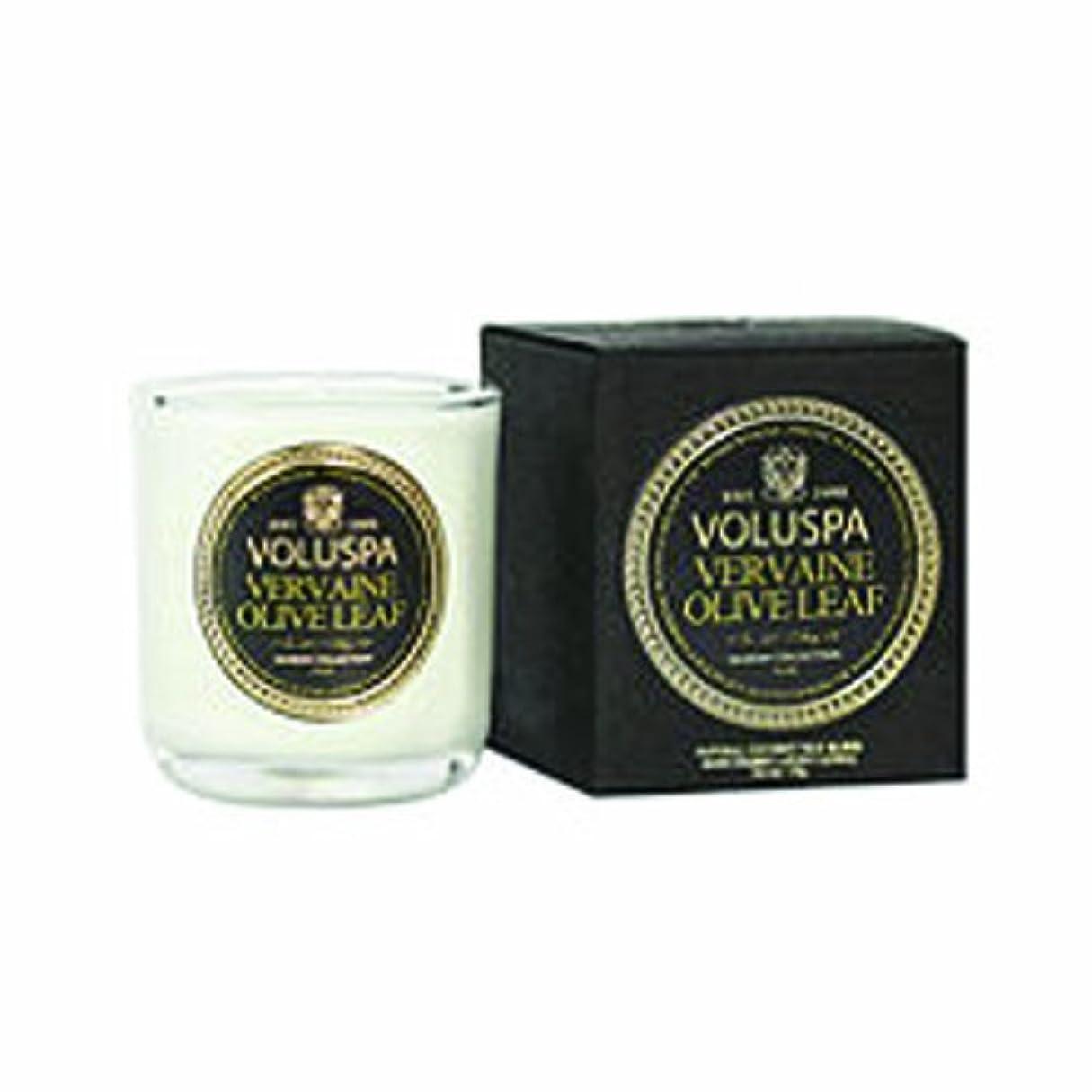 届ける常に緊急VOLUSPA メゾンブラック ミニグラスキャンドル バーベイン オリーブ リーフ
