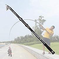 LZDLL高品質カーボン伸縮釣り竿2.1M 2.4M 2.7M 3M 3.6Mトラベルトラウトスピニングロッドシーポール釣りタックル