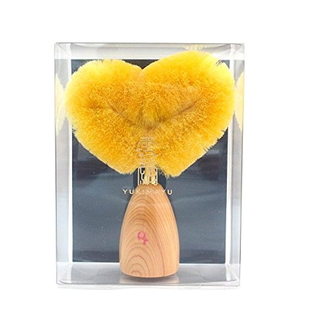 有益なプリーツ評価する雪繭洗顔ブラシ(ハート型)ウェットタイプ