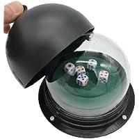 OrangeHawk 電動式 ダイスカップ サイコロ 2~5個 セット 大型 4方向押し ボタン (サイコロ4個セット)