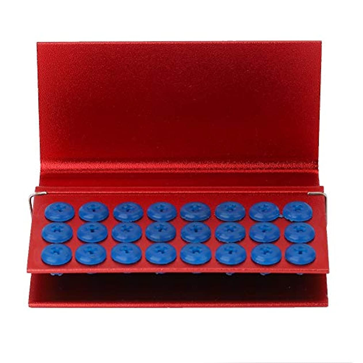 パンツ自動化聖歌歯科ダイヤモンドのBursの消毒、アルミ合金24の穴の消毒歯科ストロベリーPortablocksの消毒箱