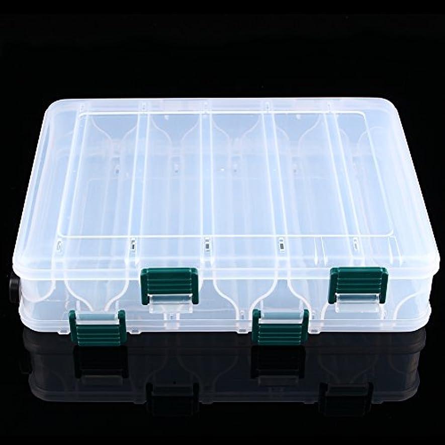 決定予防接種充電VGEBY 釣りルアーボックス 両面防水 プラスチック クリア 釣りルアー ベイトフック ストレージボックス