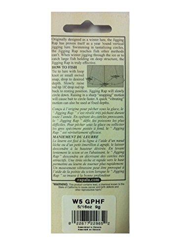 ラパラ ジギングラップ 5cm 9g ガンメタホロフレーク JIGGING RAP W5-GPHF