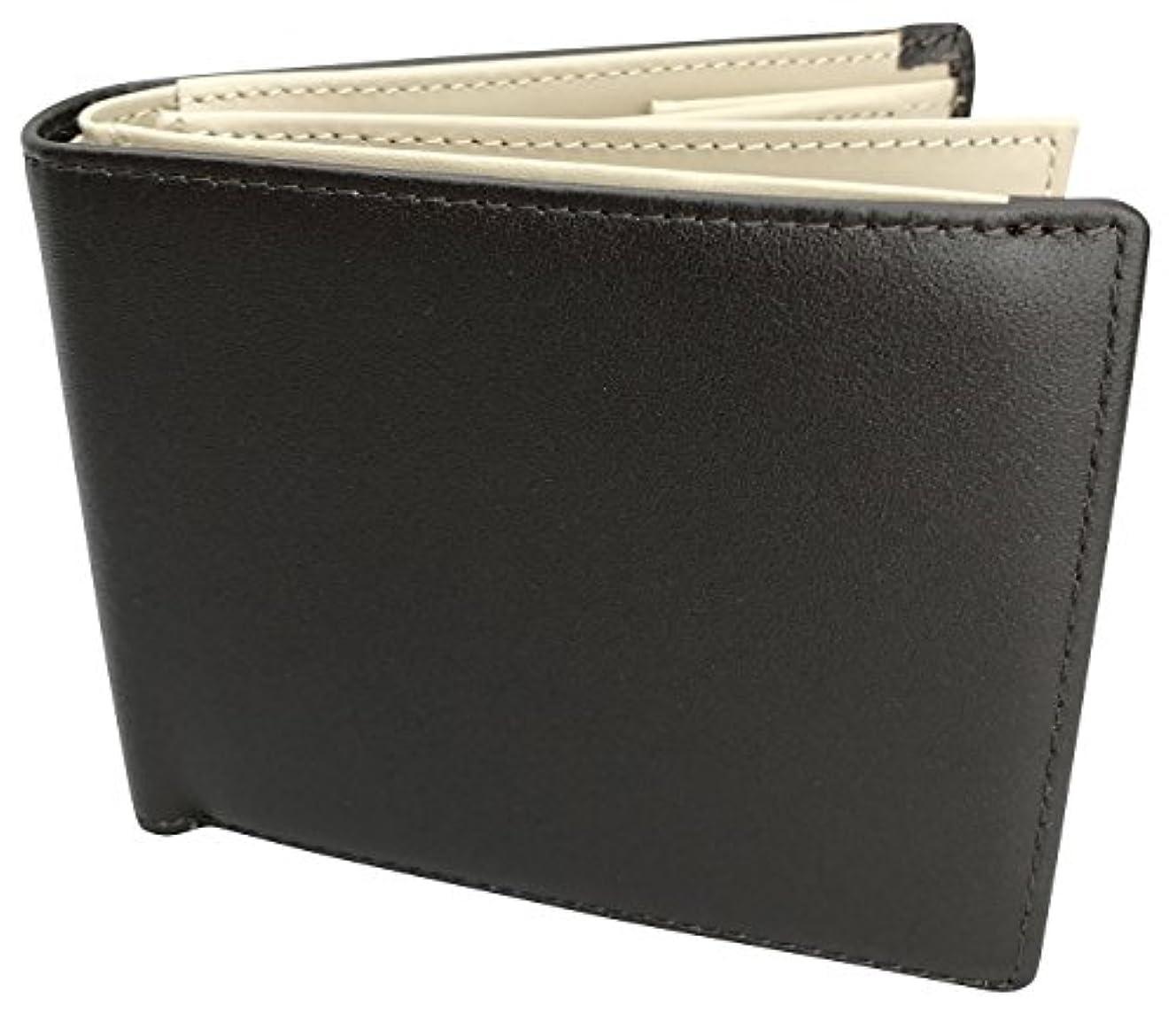 火薬ソロ精神医学[フロックス] 財布 二つ折り 二つ折り財布 本革 革 クリアホルダー付 ボックス型小銭入れ カード 大容量 ブランド 人気 メンズ レディース