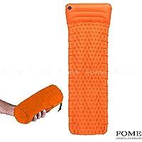 Self Inflating Sleeping Pad、Fome sports|outdoors軽量Tpu Single Sleeping Pad防湿エッグスロットデザインの枕封筒のインフレータブルマットSleepingバッグ73 x 21 x 1インチ
