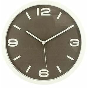 アイリスプラザ デザイン 掛け時計 ブラウン 30cm OTI-10