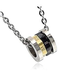 [ナピスト] ネックレス メンズ サージカル ステンレス リング ブラック ゴールド 50cm チェーン NPN091