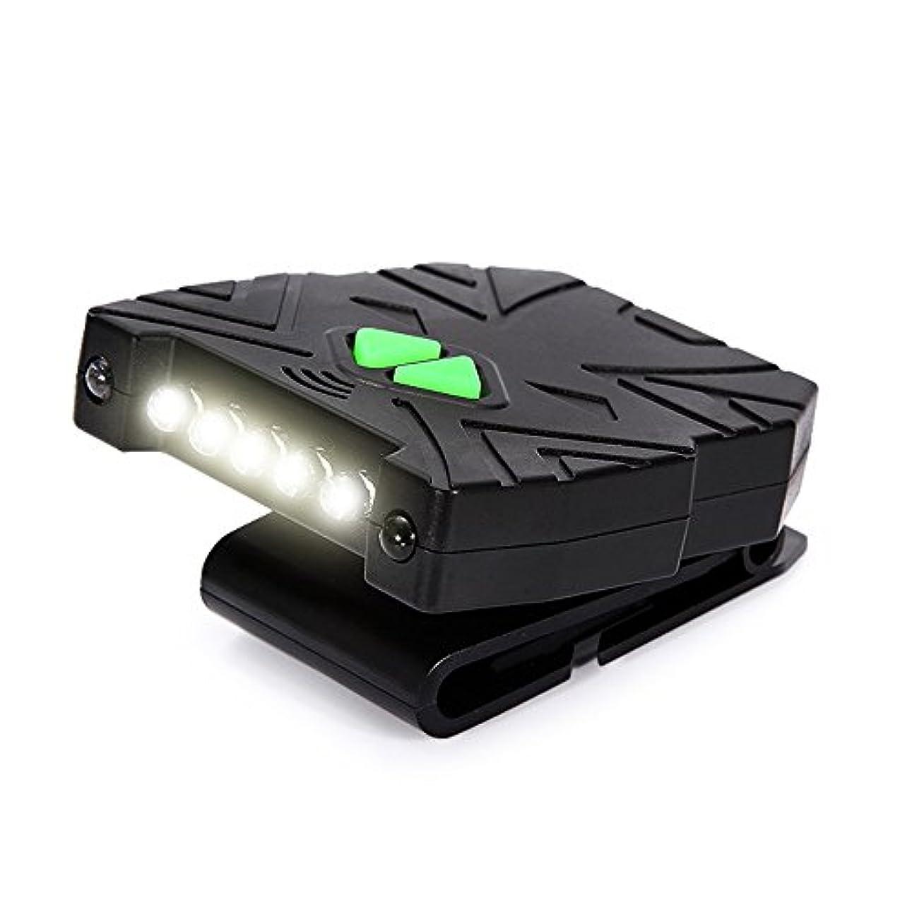 夜明け基礎理論外部MUTANG 屋外LED誘導ヘッドライトクランプキャップライトウェア充電釣り防水ヘッドランプミニライト調節可能なUSBスマート高速充電キャップライト