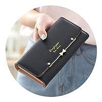 新ロングウォレット韓国版 Pu ハンドバッグ女性財布,黒