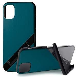 カンピーノ campino iPhone 11 Pro ケース OLE stand スタンド機能 耐衝撃 スリム 動画 Qi ワイヤレス充電対応 ヘアライン ブルー 青 Hairline