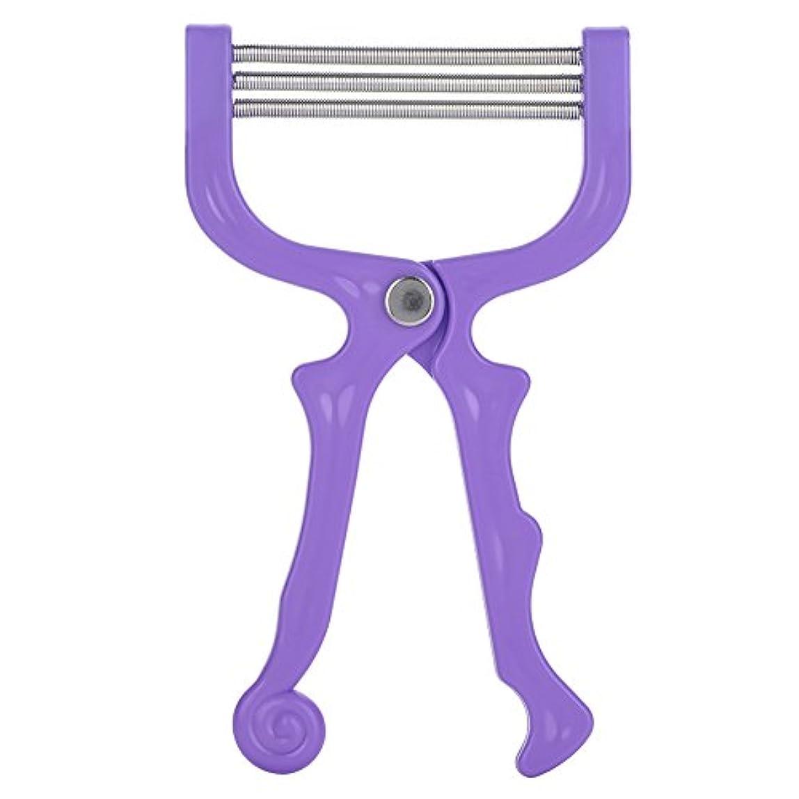持っている気性興味SoarUp 除毛 脱毛装置 ポータブル脱毛 痛くない除毛ケア 顔用 口 持ち運び安い(パープル)