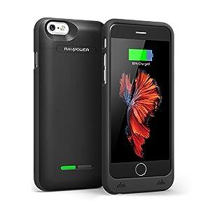 バッテリー内蔵ケース 【 Apple認証 (Made For iPhone取得)】 RAVPower iPhone 6s 充電器 3000mAh モバイルバッテリー 2倍 急速充電 125%バッテリー容量追加