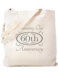 CafePress – 60回結婚記念日 – ナチュラルキャンバストートバッグ、布ショッピングバッグ S ベージュ 1377229015DECC2