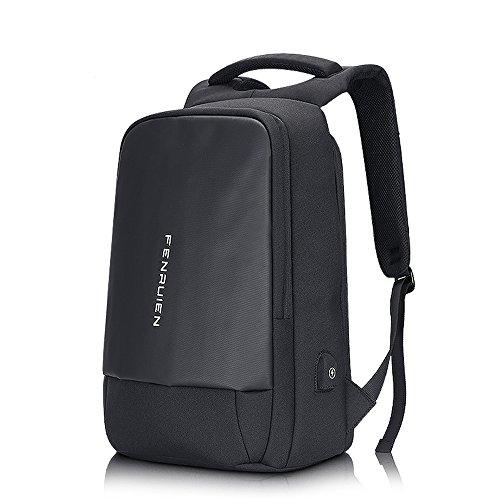 人気 20L 防撥水 リュックサック ビジネスバッグ ショルダー PCバッグ 通学 通勤 黒