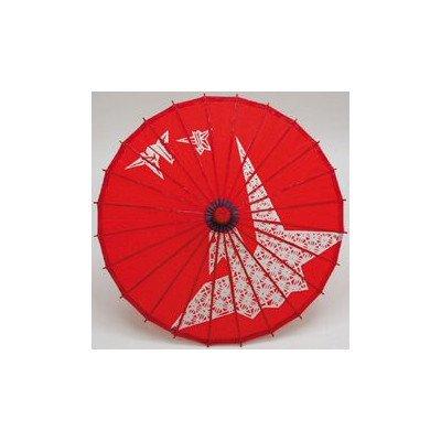 和傘 子供傘 鶴赤(装飾用)
