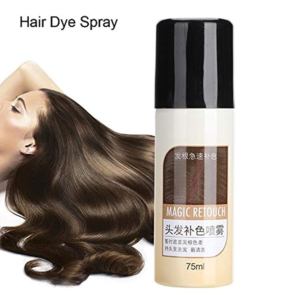 粗い素晴らしい良い多くの驚くべきヘアダイ、べたつかないマットヘアスタイル栄養補給用洗えるスプレーカバー白髪用長続きするカラー染料750ml (#1)