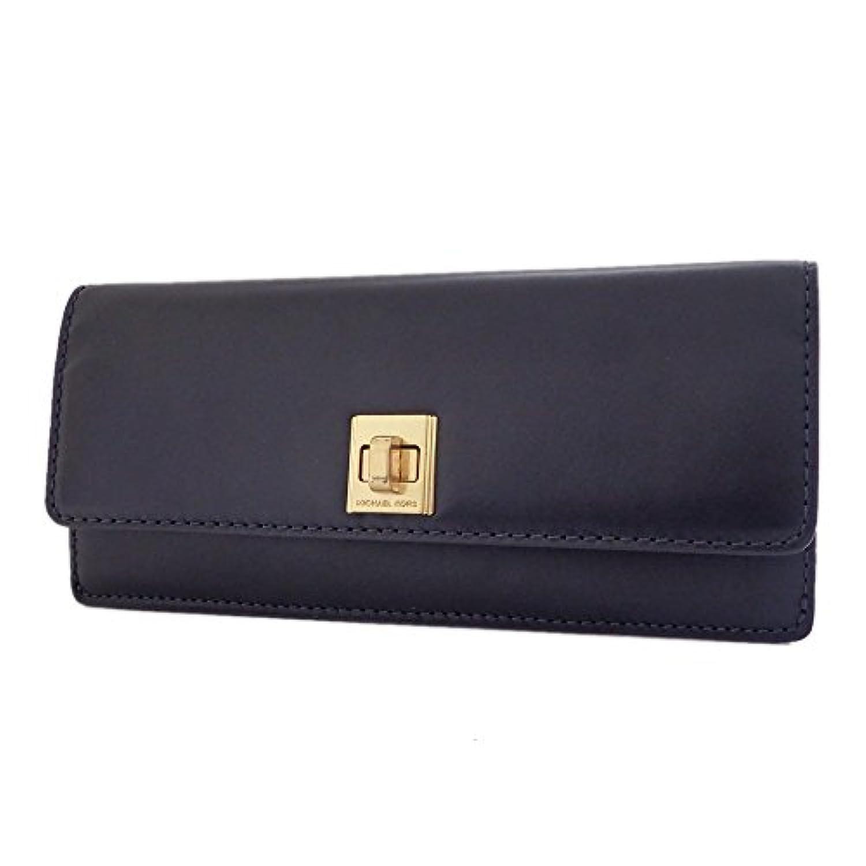 マイケルコース 長財布 レザー ターンロック Natalie Leather Wallet 32F6ANEE5L ネイビー系 MK [並行輸入品]
