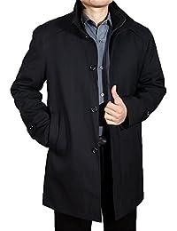 JinNiu スプリングコート チェスターコート ステンカラーコート ダブル カラー 襟 秋冬物 防寒ジャケット 中綿ジャケット ロングコート ロング丈 カジュアル 大きいサイズ 着やすい 柔らかい 冬の暖かい 上品 高品質 冬の暖かいコート