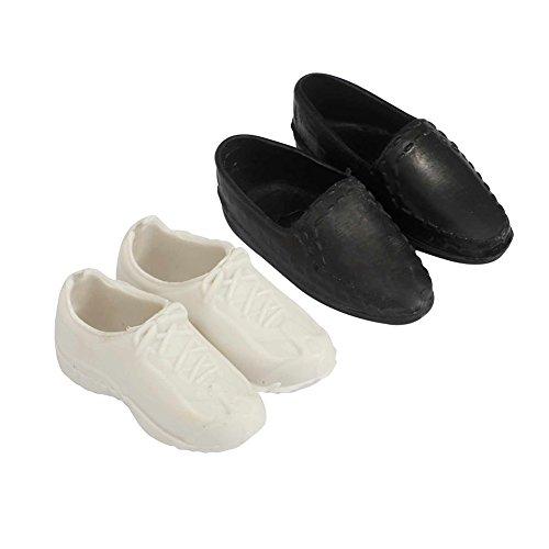 RaiFu バービー用 靴 ケンドール用 シューズ ホワイト...