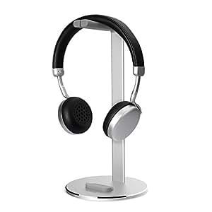 AOSO 多機能 ヘッドホンスタンド アルミ合金製 Mac風デザイン 収納保管&ディスプレイ ヘッドセットハンガー•スマホスタンド イヤホン収納&スマホ置き可能 Sony、Beats、ロジクール、KingTopなど多様式ヘッドホン対応