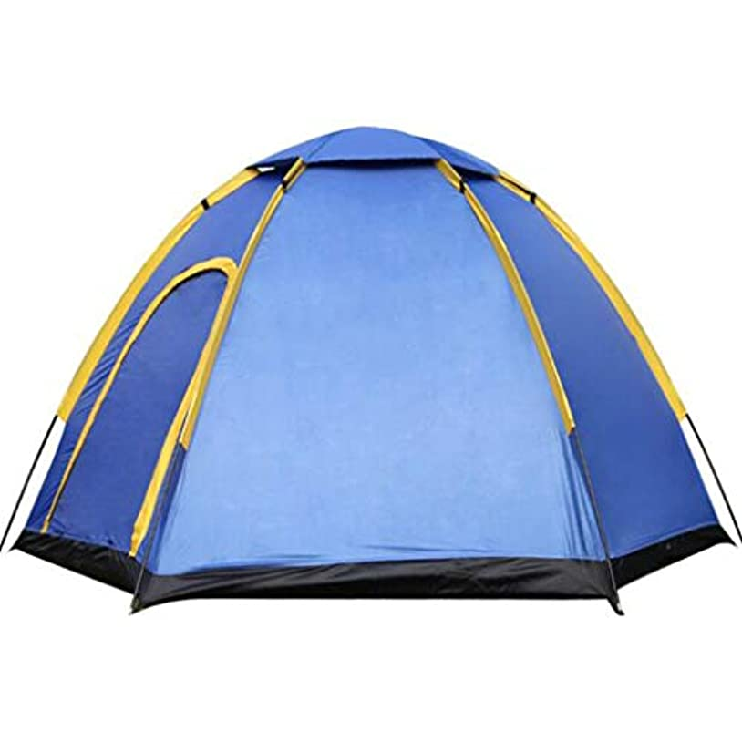 瞑想的甥お互い六角形のテント、グラスファイバーロッド、防水旅行バックパックアウトドアキャンプテント家族テント、3-4人