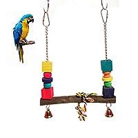 ペットオウムおもちゃ登山ラダーオウムハムスターログスイングHangingブリッジおもちゃStanding Birds噛むおもちゃ One Size