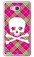 SECOND SKIN スカルパンク ピンク (ソフトTPUクリア) / for Qua phone PX LGV33/au ALGV33-TPCL-701-J097
