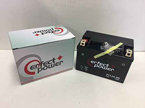 PERFECT POWER PT12A-BS バイクバッテリー 互換 YT12A-BS DT12A-BS FT12A-BS GT12A-BS 初期充電済 即使用可能 スカイウェイブ250 スカイウェイブ400 GSX-R750 GSX-R1000 バンディット1250 エプシロン250 Ninja 650R Z1000
