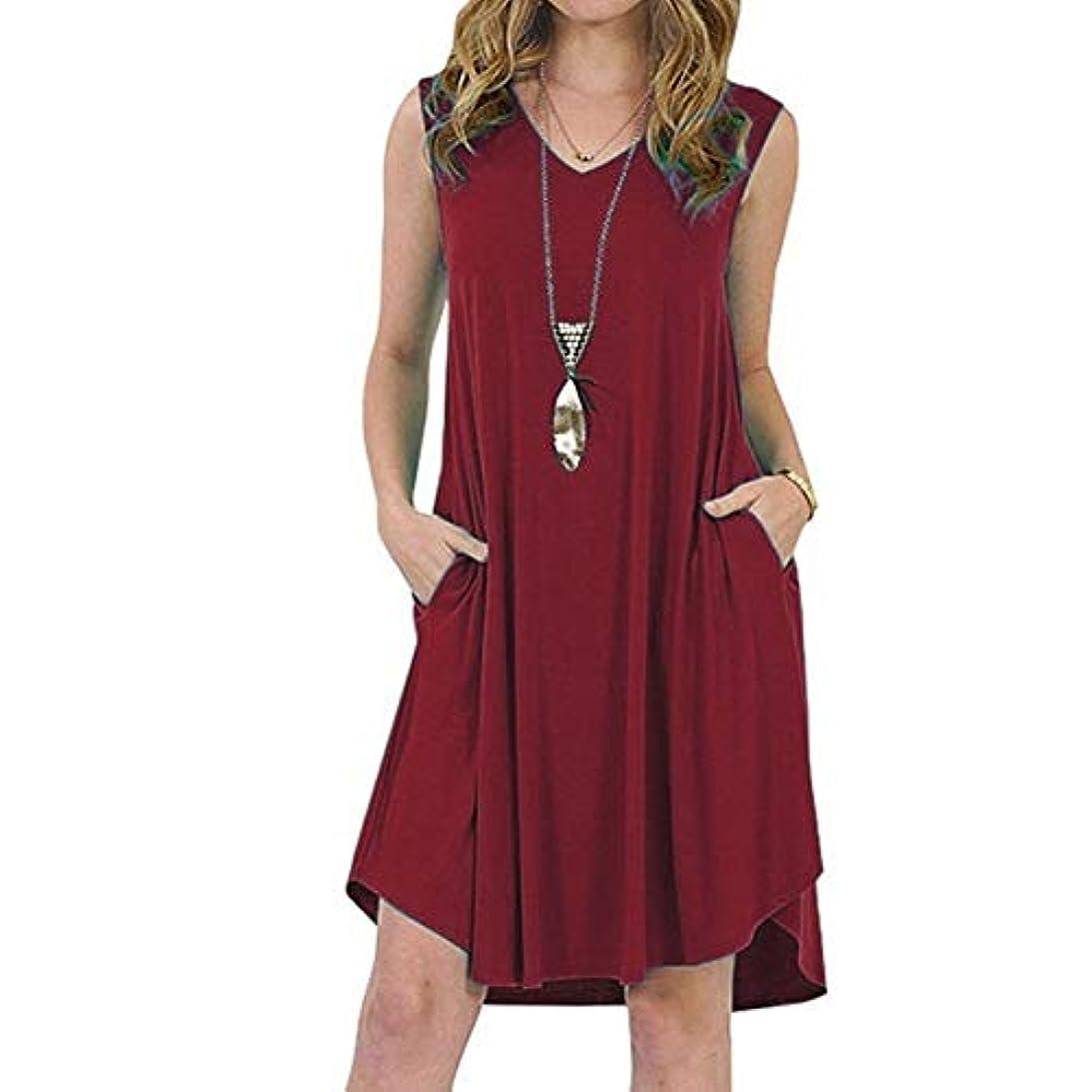 繁雑地味な筋MIFAN の女性のドレスカジュアルな不規則なドレスルースサマービーチTシャツドレス