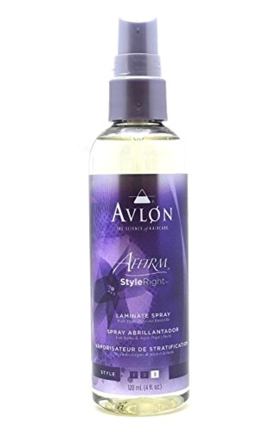 わずらわしい倒産柔らかさAvlon Hair Care アバロンアファームスタイル右ラミネートスプレー - 4.0オンス 4オンス