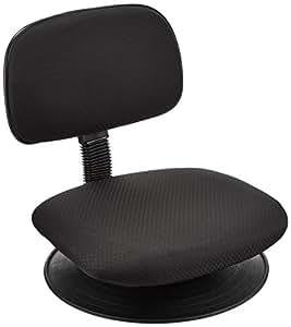 ナカバヤシ オフィスチェア 回転盤付き座いす ブラック 81858