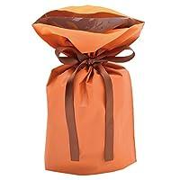 タカ印 巾着袋 50-3363 オレンジ 小サイズ 50枚