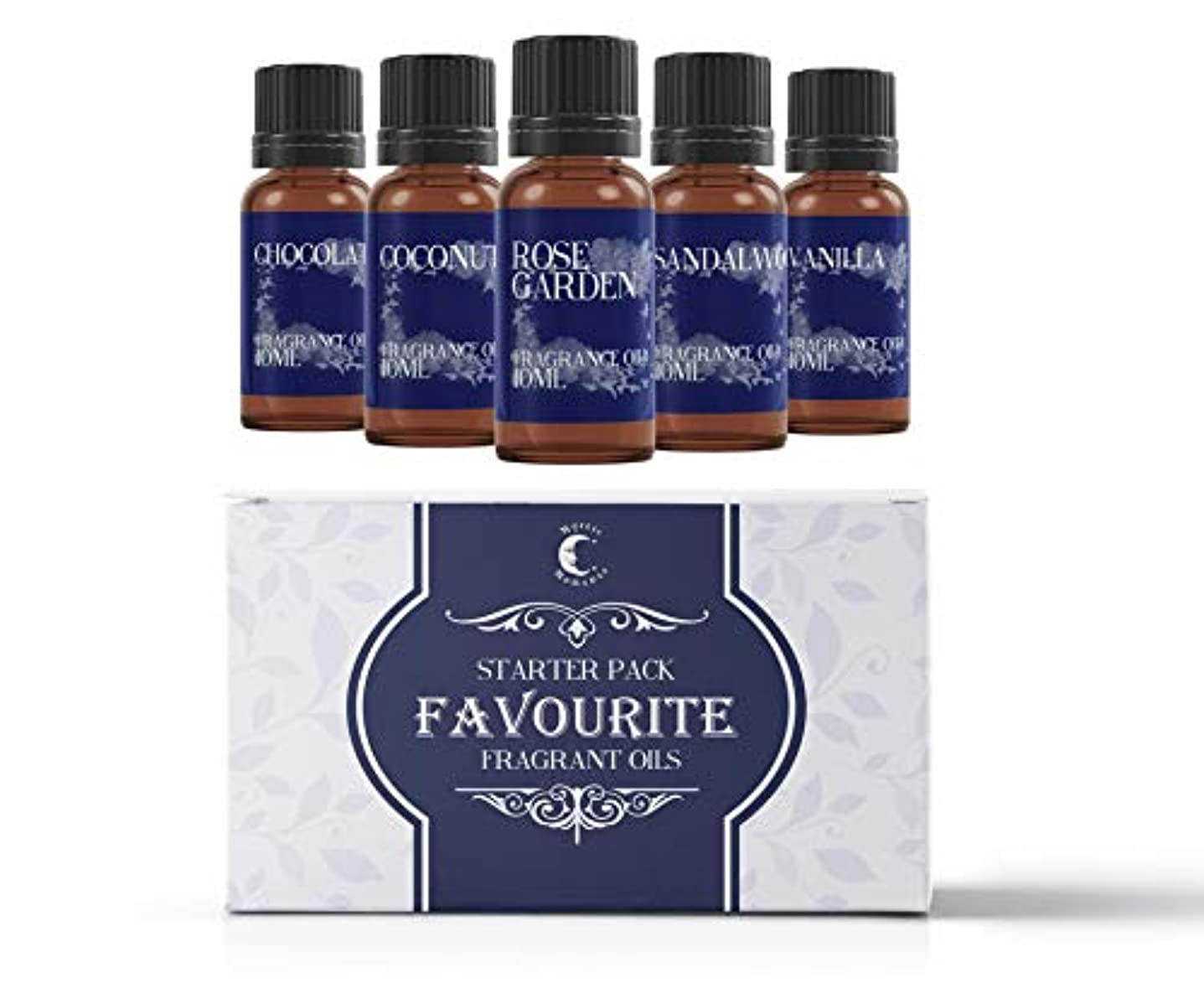 滑りやすい死んでいる心からMystic Moments | Fragrant Oil Starter Pack - Favourite Oils - 5 x 10ml