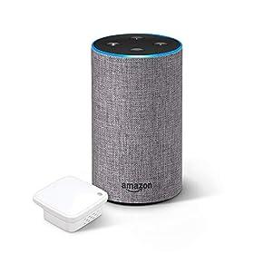 Echo 第2世代 - スマートスピーカー with Alexa、ヘザーグレー + ラトックシステム スマート家電リモコン