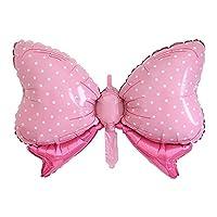 oinnaホイルバルーン  蝶結びシリーズ お誕生日 結婚式 プロポーズ式 会場 お店の飾り 游地園 室内装飾 パーティーバルーン 飾り付け 2個セット ピンク