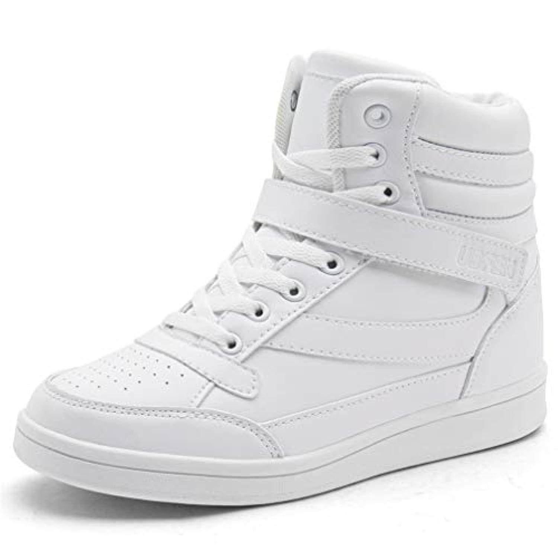 UBFEN レディース シューズ インヒールスニーカー ハイカットシークレットインソール カジュアルシューズ ブーツ スニーカー 身長アップ 内に高まる 運動靴 女 軽量 厚底