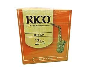 RICO リード アルトサクソフォーン 強度:2.5(10枚入)アンファイルド RJA1025
