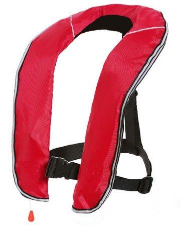 EYSON ライフジャケット インフレータブルベストタイプ 自動/手動膨張式 救命胴衣9色から選択可 釣り用 CE認定済レッド, 自動式)