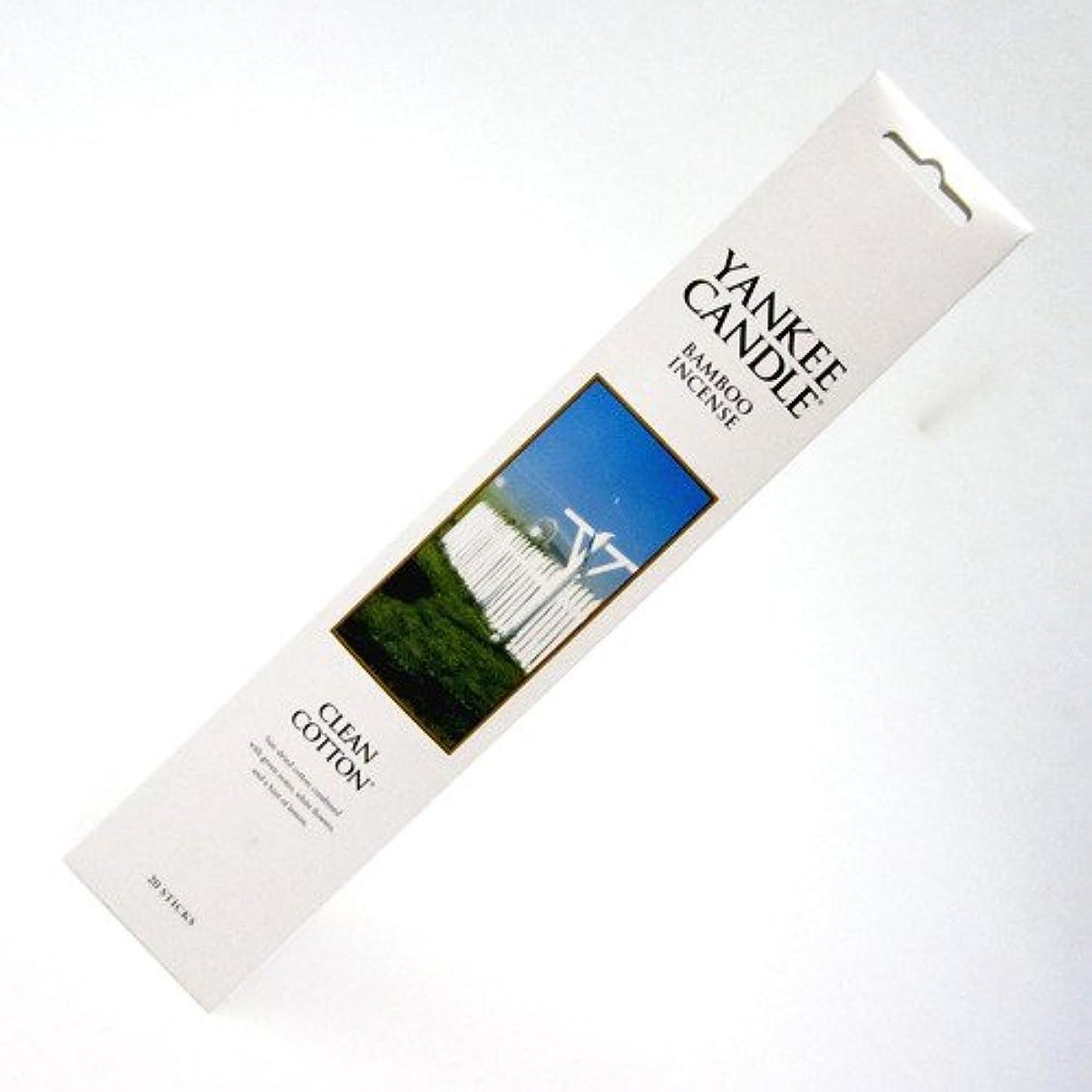 比べるプラスチックブッシュYANKEE CANDLE バンブーインセンス クリーンコットン