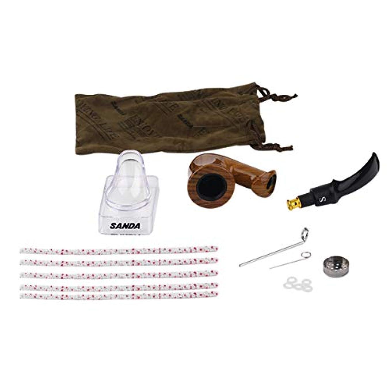 通信網真向こう脱走Saikogoods 耐久性のある喫煙パイプ木製パイプ煙喫煙木製の喫煙パイプの雑草パイプ男性のための最高の贈り物2色 褐色