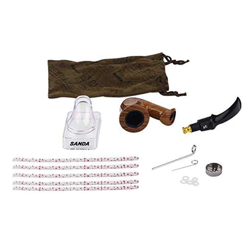 Saikogoods 耐久性のある喫煙パイプ木製パイプ煙喫煙木製の喫煙パイプの雑草パイプ男性のための最高の贈り物2色 褐色