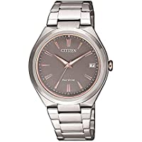 Citizen Women's Solar Powered Wrist watch, stainless steel Bracelet analog Display and Stainless Steel Strap, FE6026-50H