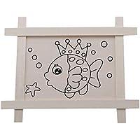 HENGSONG 魚柄 木製ボード 絵画 スケッチパッド DIY グラフィティ 幼稚園 マニュアル 早期教育玩具