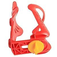 LVESHOP 調節可能なウォーターボトルホルダーMTB自転車ウォーターボトルケージ (色 : 赤)