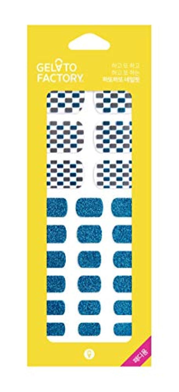 ピービッシュ識別する権限損傷のないフットネイル★ジェラートファクトリー★ 貼るだけマニキュア (サマーブルーミラー)