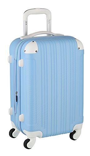 スーツケース キャリーケース キャリーバッグ ■安心1年保証■ M サイズ 当店人気 カラフル キャリーバック 4日 5日 6日 7日 中型 TSAロック ハードキャリー ジッパー 拡張ファスナー 5082-60 全サイズ 有り ブルー/ホワイト