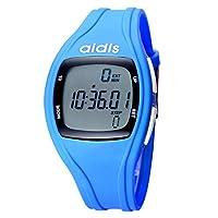 JIANFU 防水人LEDのスポーツの腕時計のための子供のデジタル腕時計 (Color : Blue)